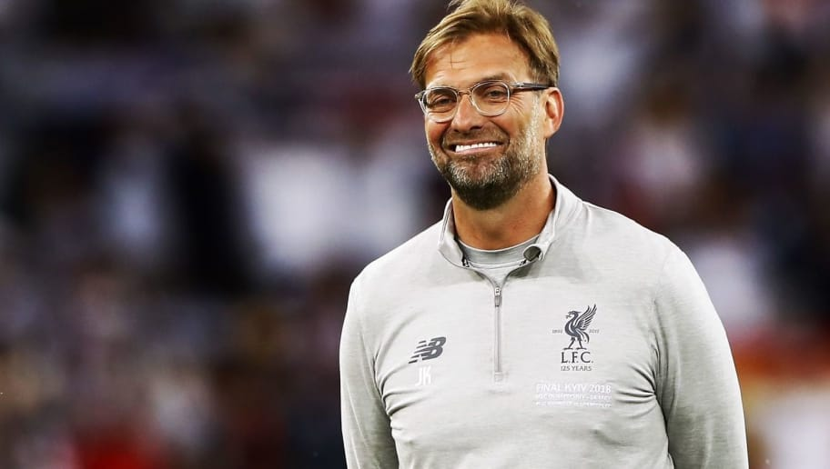 Jurgen Klopp of Liverpool FC during the UEFA Champions League final between Real Madrid and Liverpool on May 26, 2018 at NSC Olimpiyskiy Stadium in Kyiv, Ukraine(Photo by VI Images via Getty Images)