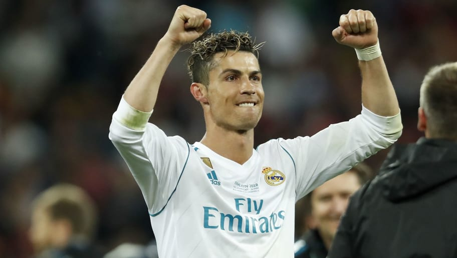 Cristiano Ronaldo of Real Madrid during the UEFA Champions League final between Real Madrid and Liverpool on May 26, 2018 at NSC Olimpiyskiy Stadium in Kyiv, Ukraine(Photo by VI Images via Getty Images)