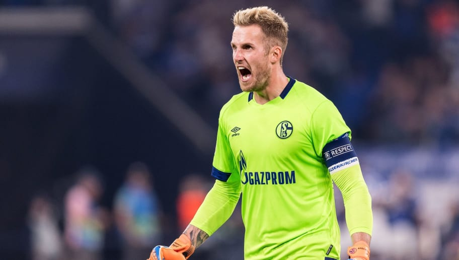 goalkeeper Ralf Fährmann of FC Schalke 04 DFL REGULATIONS PROHIBIT ANY USE OF PHOTOGRAPHS AS IMAGE SEQUENCES AND/OR QUASI-VIDEO. during the UEFA Champions League group D match between Schalke 04 and FC Porto at the Arena auf Schalke on September 18, 2018 in Gelschenkirchen, Germany(Photo by VI Images via Getty Images)