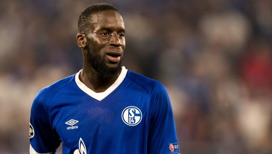 Salif Sané of FC Schalke 04 DFL REGULATIONS PROHIBIT ANY USE OF PHOTOGRAPHS AS IMAGE SEQUENCES AND/OR QUASI-VIDEO. during the UEFA Champions League group D match between Schalke 04 and FC Porto at the Arena auf Schalke on September 18, 2018 in Gelschenkirchen, Germany(Photo by VI Images via Getty Images)