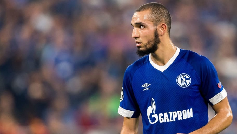 Nabil Bentaleb of FC Schalke 04 DFL REGULATIONS PROHIBIT ANY USE OF PHOTOGRAPHS AS IMAGE SEQUENCES AND/OR QUASI-VIDEO. during the UEFA Champions League group D match between Schalke 04 and FC Porto at the Arena auf Schalke on September 18, 2018 in Gelschenkirchen, Germany(Photo by VI Images via Getty Images)