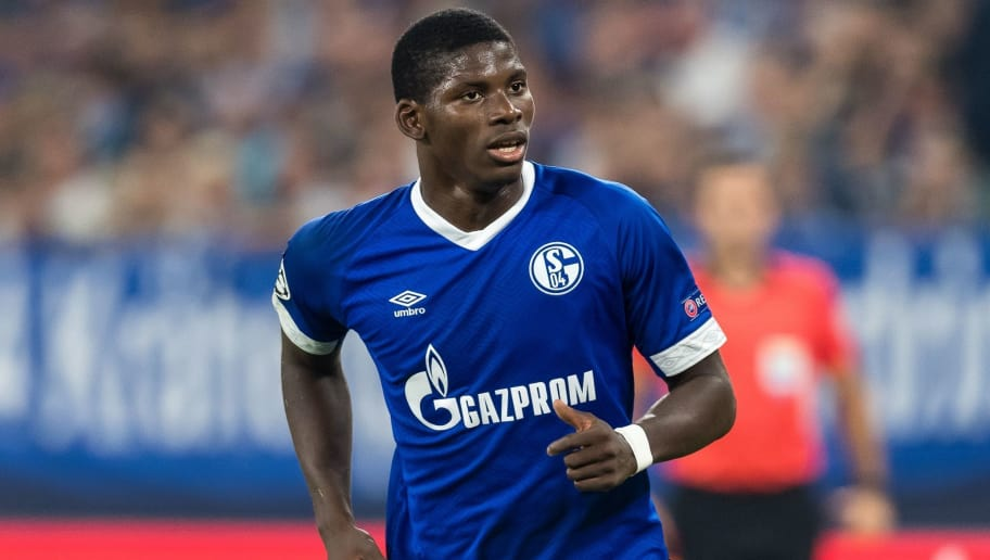 Breel Donald Embolo of FC Schalke 04 DFL REGULATIONS PROHIBIT ANY USE OF PHOTOGRAPHS AS IMAGE SEQUENCES AND/OR QUASI-VIDEO. during the UEFA Champions League group D match between Schalke 04 and FC Porto at the Arena auf Schalke on September 18, 2018 in Gelschenkirchen, Germany(Photo by VI Images via Getty Images)