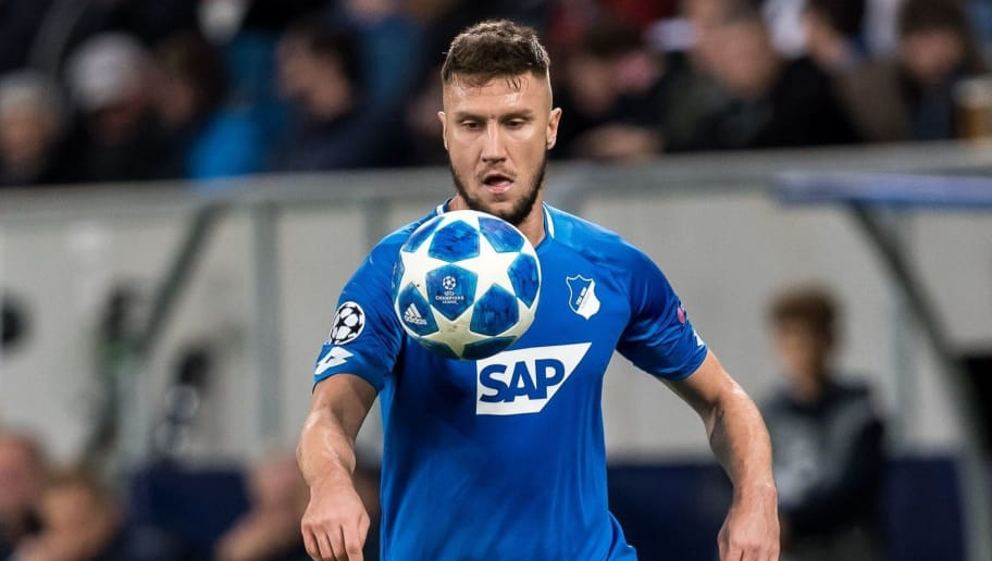 Ermin Bicakcic of TSG 1899 Hoffenheim during the UEFA Champions League group E match between TSG 1899 Hoffenheim and Olympique Lyonnais at Rhein-Neckar-Arena on October 23, 2018 in Sinsheim, Germany(Photo by VI Images via Getty Images)