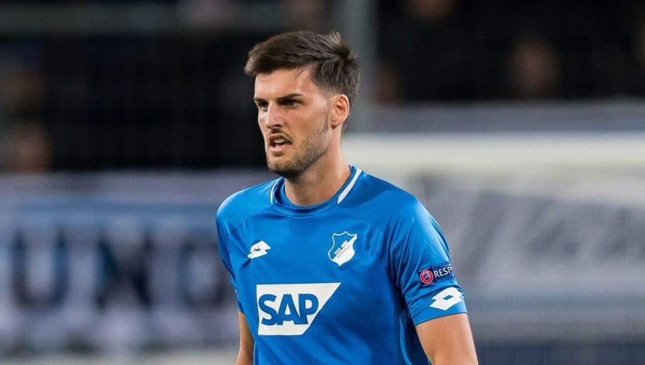 Florian Grillitsch of TSG 1899 Hoffenheim during the UEFA Champions League group E match between TSG 1899 Hoffenheim and Olympique Lyonnais at Rhein-Neckar-Arena on October 23, 2018 in Sinsheim, Germany(Photo by VI Images via Getty Images)