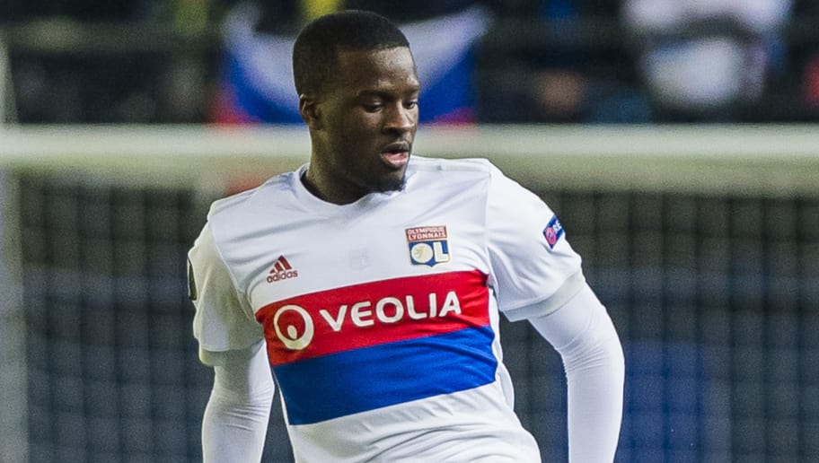 VILLARREAL, SPAIN - FEBRUARY 22: Tanguy NDombele of Olympique Lyon in action during the UEFA Europa League 2017-18 Round of 32 (2nd leg) match between Villarreal CF and Olympique Lyon at Estadio de la Ceramica on February 22 2018 in Villarreal, Spain. (Photo by Power Sport Images/Getty Images)