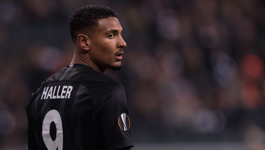 Sebastien Haller of Eintracht Frankfurt during the UEFA Europa League group H match between Eintracht Frankfurt and Olympique de Marseille at the Frankfurt stadium on November 29, 2018 in Frankfurt, Germany(Photo by VI Images via Getty Images)