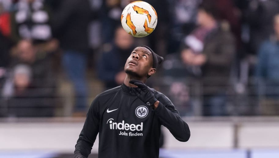 Evan N'Dicka of Eintracht Frankfurt during the UEFA Europa League group H match between Eintracht Frankfurt and Olympique de Marseille at the Frankfurt stadium on November 29, 2018 in Frankfurt, Germany(Photo by VI Images via Getty Images)