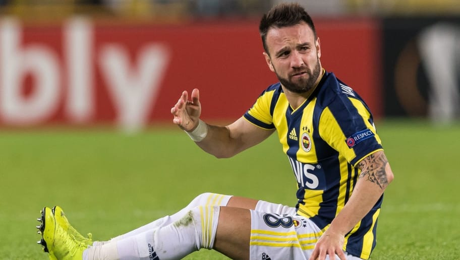 Mathieu Valbuena of Fenerbahce SK during the UEFA Europa League group D match between Fenerbahce AS and RSC Anderlecht at the Sukru Saracoglu Stadium on November 08, 2018 in Istanbul, Turkey(Photo by VI Images via Getty Images)