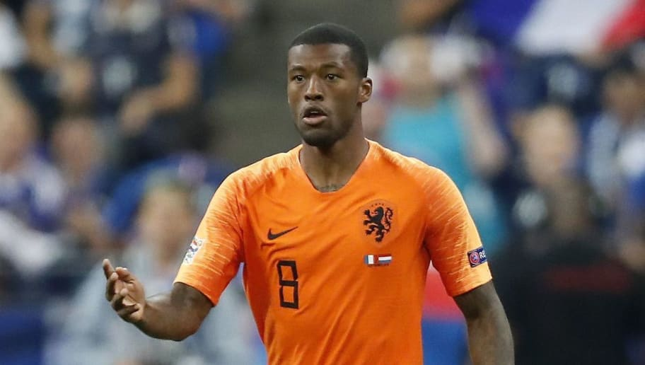 Georginio Wijnaldum of Holland during the UEFA Nations League A group 1 qualifying match between France and The Netherlands on September 09, 2018 at Stade de France in Saint Denis,  France(Photo by VI Images via Getty Images)