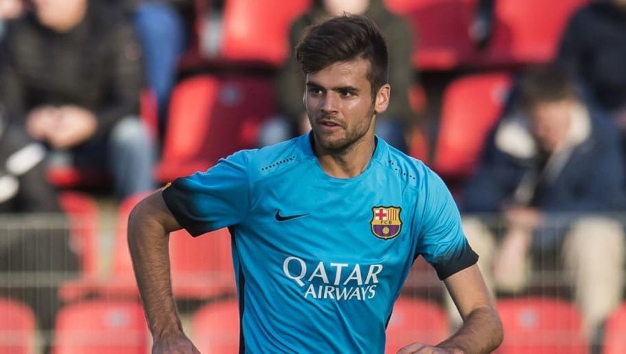Adria Vilanova of FC Barcelona U19 during the UEFA Youth League match between Bayer 04 Leverkusen U19 and Barcelona U19 on December 9, 2015 at Leverkusen, Germany.(Photo by VI Images via Getty Images)