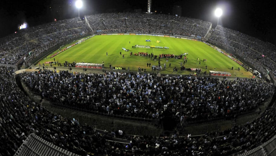 MONTEVIDEO,URUGUAY - OCTOBER 15:  General view of Centenario stadium before a match between Uruguay and Argentina as part of the 18th round of the South American Qualifiers at Centenario Stadium on October 15, 2014 in Montevideo, Uruguay.(Photo by Dante Fernandez/LatinContent/Getty Images)