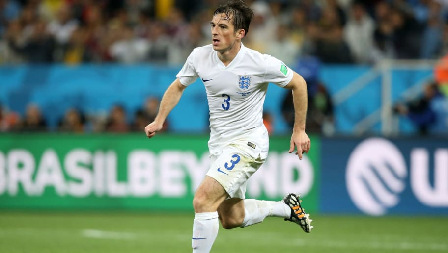 SAO PAULO, BRAZIL - JUNE 19: Leighton Baines of England in action during the 2014 FIFA World Cup Brazil Group D match between Uruguay and England at Arena de Sao Paulo on June 19, 2014 in Sao Paulo, Brazil. (Photo by Jean Catuffe/Getty Images)