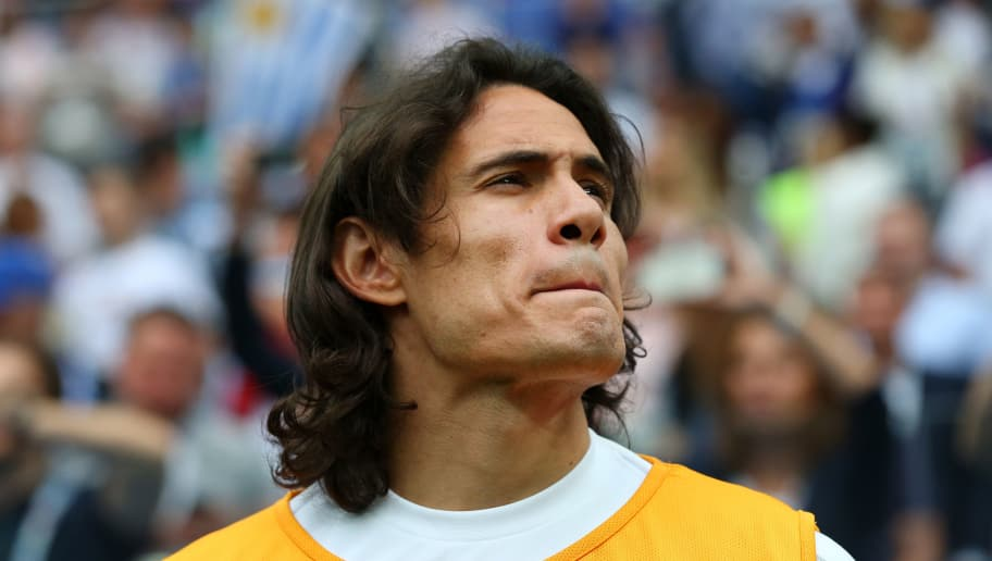 NIZHNY NOVGOROD, RUSSIA - JULY 06:  Edinson Cavani of Uruguay looks on prior to the 2018 FIFA World Cup Russia Quarter Final match between Uruguay and France at Nizhny Novgorod Stadium on July 6, 2018 in Nizhny Novgorod, Russia.  (Photo by Alex Livesey/Getty Images)