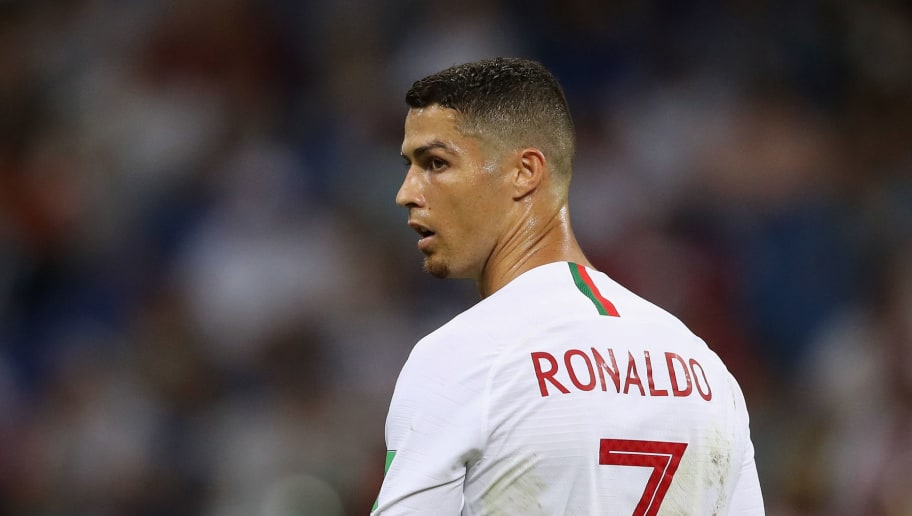 SOCHI, RUSSIA - JUNE 30:  Cristiano Ronaldo of Portugal reacts during the 2018 FIFA World Cup Russia Round of 16 match between Uruguay and Portugal at Fisht Stadium on June 30, 2018 in Sochi, Russia.  (Photo by Francois Nel/Getty Images)
