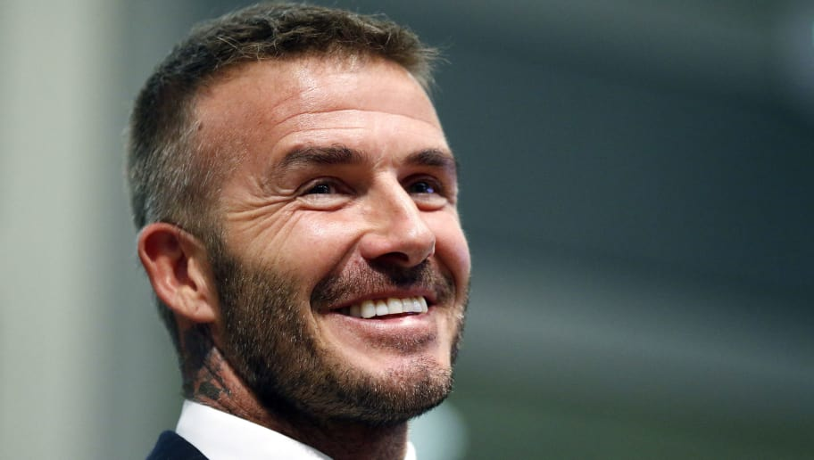 David Beckham attends a City of Miami Commissioners meeting where he and his partners presented plans of building a Major League Soccer stadium on public land in Miami, Florida on July 12, 2018. - Beckham and his partners will present stadium and park plans to City of Miami commissioners. (Photo by RHONA WISE / AFP)        (Photo credit should read RHONA WISE/AFP/Getty Images)