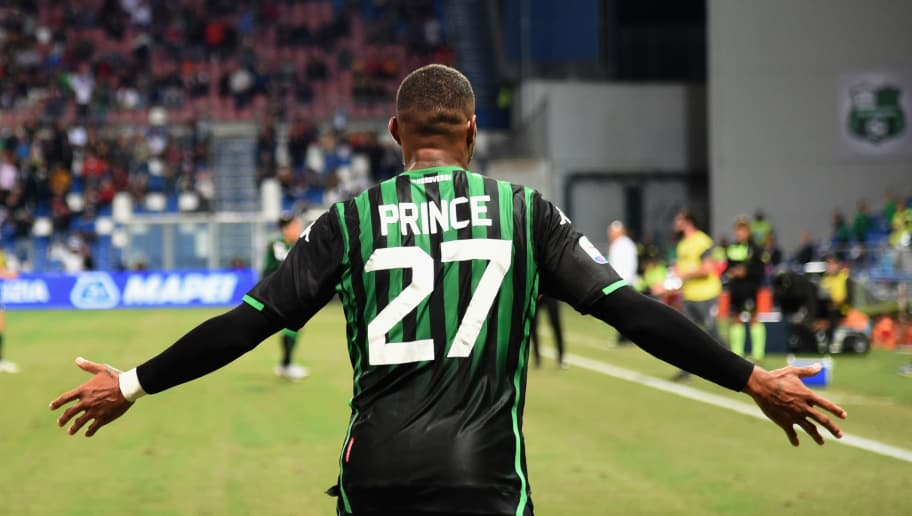 REGGIO NELL'EMILIA, ITALY - SEPTEMBER 02:  Kevin-Prince Boateng of US Sassuolo gestures during the serie A match between US Sassuolo and Genoa CFC at Mapei Stadium - Citta' del Tricolore on September 2, 2018 in Reggio nell'Emilia, Italy.  (Photo by Pier Marco Tacca/Getty Images)