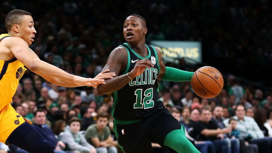 BOSTON, MASSACHUSETTS - NOVEMBER 17: Terry Rozier #12 of the Boston Celtics drives to the basket during the first quarter of the game against the Utah Jazz at TD Garden on November 17, 2018 in Boston, Massachusetts. NOTE TO USER: User expressly acknowledges and agrees that, by downloading and or using this photograph, User is consenting to the terms and conditions of the Getty Images License Agreement. (Photo by Omar Rawlings/Getty Images)