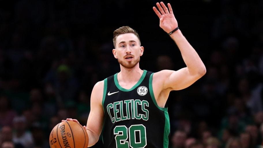 celtics hayward gordon boston bench coming better playing court ballers nation