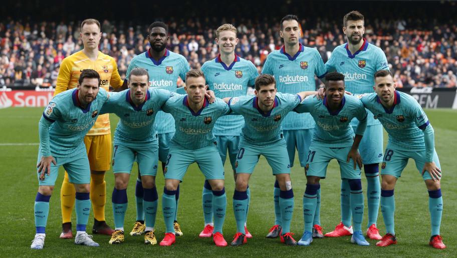 Lionel Messi,Frenkie de Jong,Gerard Pique,Sergio Busquets,Samuel Umtiti,Antoine Griezmann