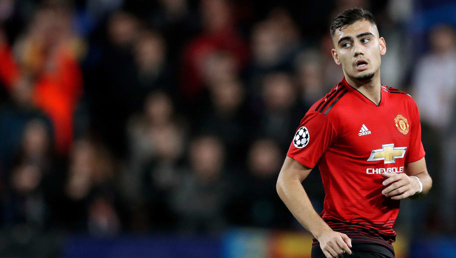 VALENCIA, SPAIN - DECEMBER 12: Andreas Pereira of Manchester United  during the UEFA Champions League  match between Valencia v Manchester United at the Estadio de Mestalla on December 12, 2018 in Valencia Spain (Photo by Jeroen Meuwsen/Soccrates/Getty Images)