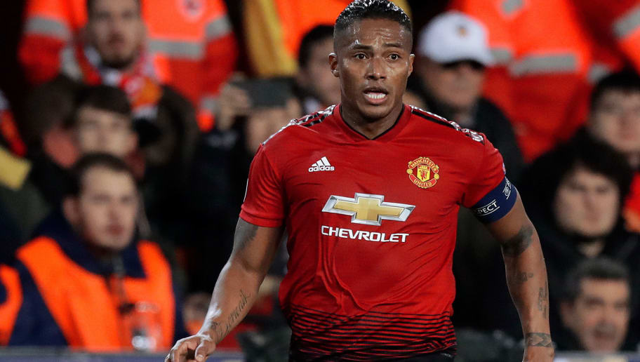 VALENCIA, SPAIN - DECEMBER 12: Antonio Valencia of Manchester United  during the UEFA Champions League  match between Valencia v Manchester United at the Estadio de Mestalla on December 12, 2018 in Valencia Spain (Photo by Jeroen Meuwsen/Soccrates/Getty Images)