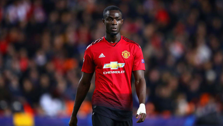 VALENCIA, SPAIN - DECEMBER 12: Eric Bailly of Manchester United looks on during the UEFA Champions League Group H match between Valencia and Manchester United at Estadio Mestalla on December 12, 2018 in Valencia, Spain.  (Photo by Chris Brunskill/Fantasista/Getty Images)