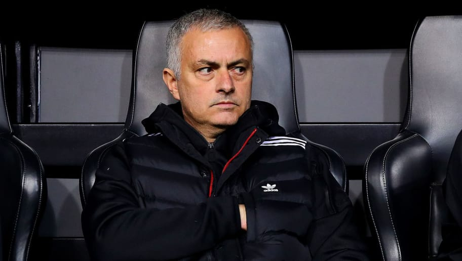 VALENCIA, SPAIN - DECEMBER 12: Manchester United manager Jose Mourinho looks on ahead of the UEFA Champions League Group H match between Valencia and Manchester United at Estadio Mestalla on December 12, 2018 in Valencia, Spain. (Photo by Chris Brunskill/Fantasista/Getty Images)