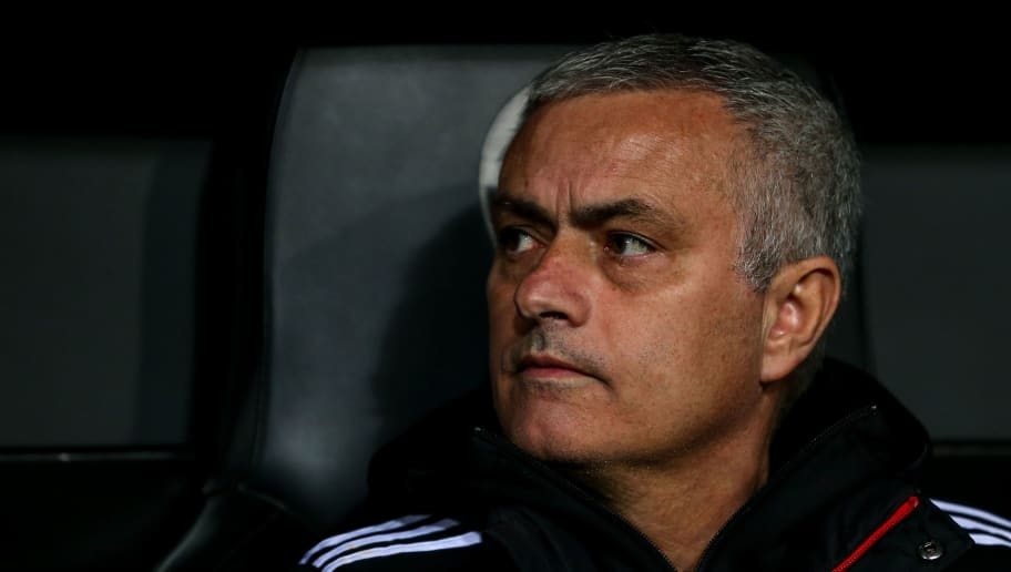 VALENCIA, SPAIN - DECEMBER 12: Jose Mourinho the head coach / manager of Manchester United during the UEFA Champions League Group H match between Valencia and Manchester United at Estadio Mestalla on December 12, 2018 in Valencia, Spain. (Photo by Robbie Jay Barratt - AMA/Getty Images)