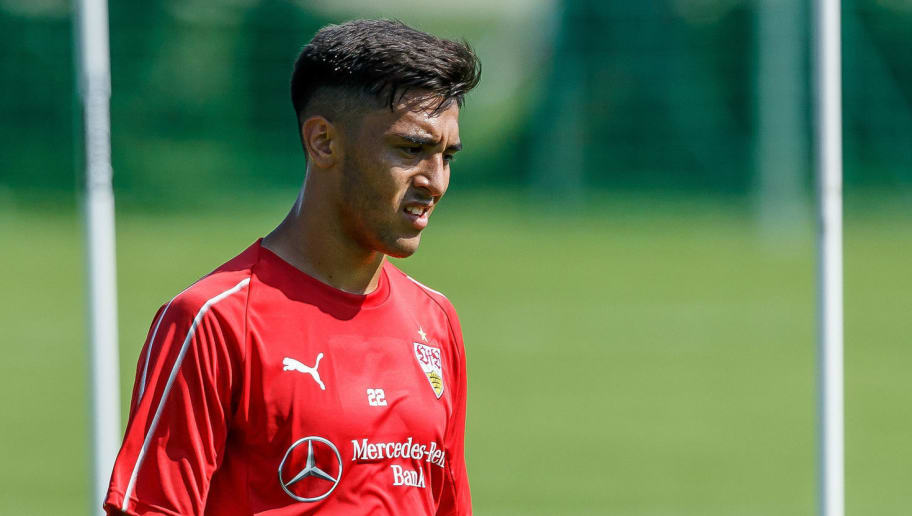 GRASSAU, GERMANY - JULY 28: Nicolas Gonzalez of Stuttgart looks on during the VfB Stuttgart training camp on July 28, 2018 in Grassau, Germany. (Photo by TF-Images/Getty Images)
