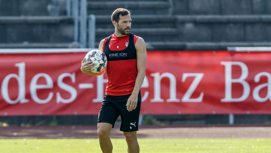 GRASSAU, GERMANY - JULY 28: Gonzalo Castro of Stuttgart looks on during the VfB Stuttgart training camp on July 28, 2018 in Grassau, Germany. (Photo by TF-Images/Getty Images)