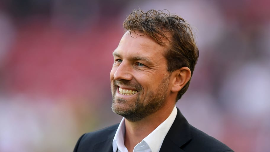 STUTTGART, GERMANY - OCTOBER 20:  Markus Weinzierl, Manager of VfB Stuttgart looks on prior to the Bundesliga match between VfB Stuttgart and Borussia Dortmund at Mercedes-Benz Arena on October 20, 2018 in Stuttgart, Germany.  (Photo by Matthias Hangst/Bongarts/Getty Images)