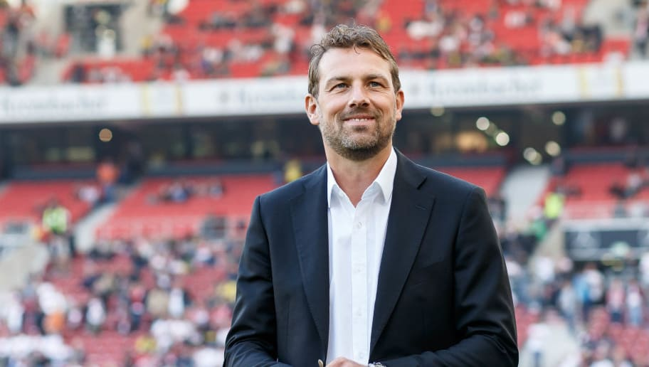 STUTTGART, GERMANY - OCTOBER 20: Head coach Markus Weinzierl of VfB Stuttgart looks on prior the Bundesliga match between VfB Stuttgart and Borussia Dortmund at Mercedes-Benz Arena on October 20, 2018 in Stuttgart, Germany. (Photo by TF-Images/Getty Images)
