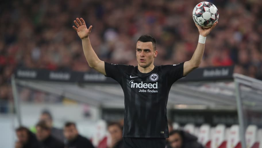 STUTTGART, GERMANY - NOVEMBER 02:  Filip Kostic of Frankfurt looks on during the Bundesliga match between VfB Stuttgart and Eintracht Frankfurt at Mercedes-Benz Arena on November 2, 2018 in Stuttgart, Germany.  (Photo by Alexander Hassenstein/Bongarts/Getty Images)