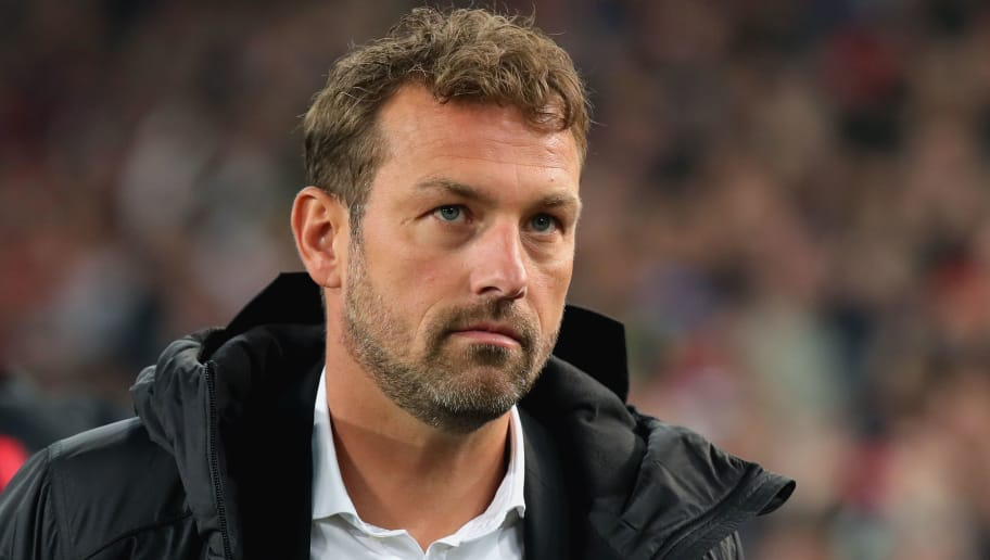 STUTTGART, GERMANY - NOVEMBER 02:  Markus Weinzierl, head coach of Stuttgart looks on during the Bundesliga match between VfB Stuttgart and Eintracht Frankfurt at Mercedes-Benz Arena on November 2, 2018 in Stuttgart, Germany.  (Photo by Alexander Hassenstein/Bongarts/Getty Images)