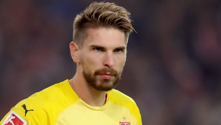 STUTTGART, GERMANY - NOVEMBER 02:  Ron-Robert Zieler of Stuttgart looks on during the Bundesliga match between VfB Stuttgart and Eintracht Frankfurt at Mercedes-Benz Arena on November 2, 2018 in Stuttgart, Germany.  (Photo by Alexander Hassenstein/Bongarts/Getty Images)