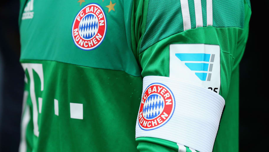STUTTGART, GERMANY - APRIL 09:  Manuel Neuer, keeper of Muenchen is wearing the team captains armband during the Bundesliga match between VfB Stuttgart and FC Bayern Muenchen at Mercedes-Benz Arena on April 9, 2016 in Stuttgart, Germany.  (Photo by Alexander Hassenstein/Bongarts/Getty Images)