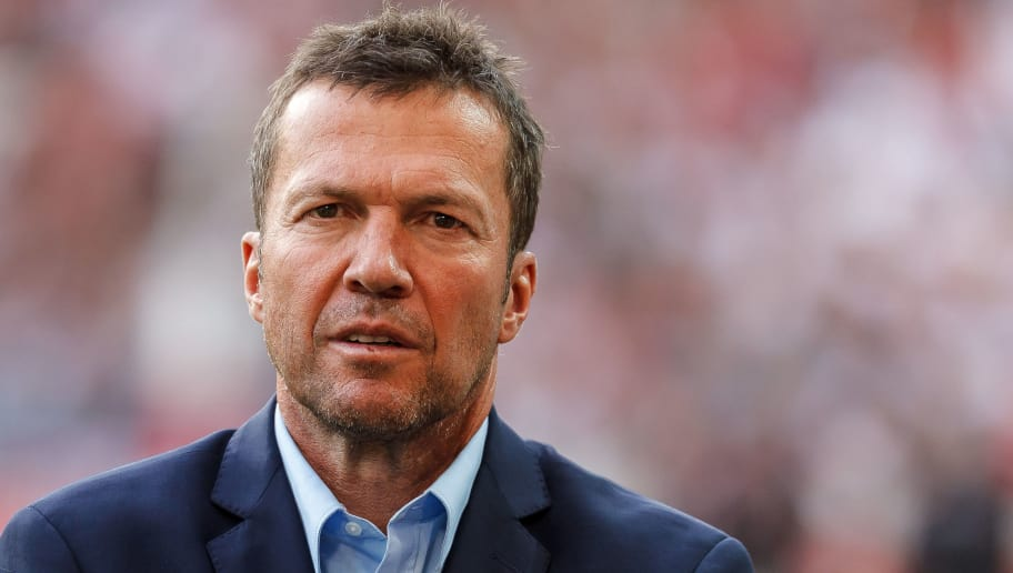 STUTTGART, GERMANY - SEPTEMBER 01: Lothar Matthaeus looks on  prior  the Bundesliga match between VfB Stuttgart and FC Bayern Muenchen at Mercedes-Benz Arena on September 1, 2018 in Stuttgart, Germany. (Photo by TF-Images/Getty Images)