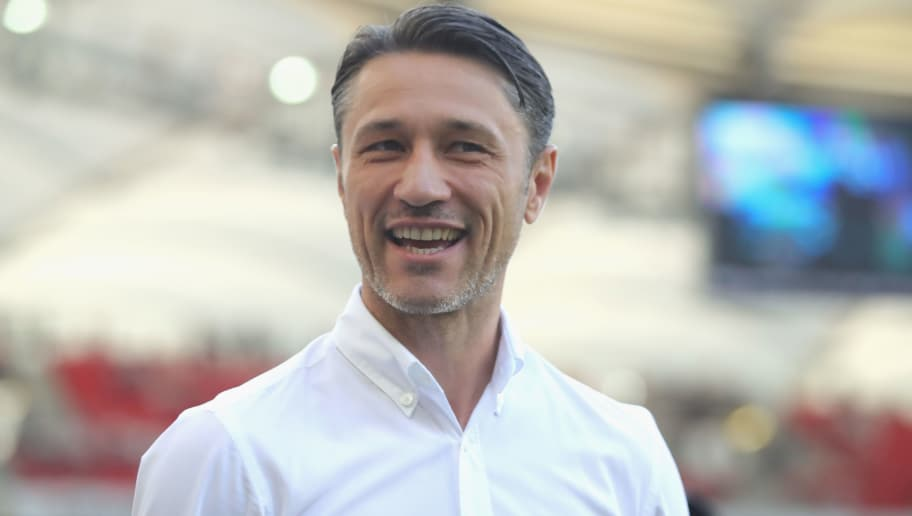 STUTTGART, GERMANY - SEPTEMBER 01:  Niko Kovac, head coach of FC Bayern Muenchen looks on prior to the Bundesliga match between VfB Stuttgart and FC Bayern Muenchen at Mercedes-Benz Arena on September 1, 2018 in Stuttgart, Germany.  (Photo by Alexander Hassenstein/Bongarts/Getty Images)