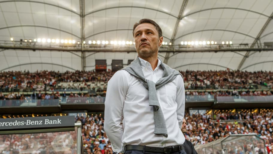STUTTGART, GERMANY - SEPTEMBER 01: Head coach  Niko Kovac of Bayern Muenchen  looks on  prior  the Bundesliga match between VfB Stuttgart and FC Bayern Muenchen at Mercedes-Benz Arena on September 1, 2018 in Stuttgart, Germany. (Photo by TF-Images/Getty Images)