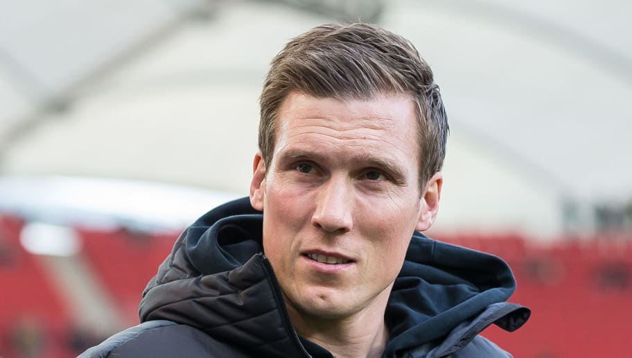 STUTTGART, GERMANY - JANUARY 27: Head coach Hannes Wolf of Stuttgart looks on prior to the Bundesliga match between VfB Stuttgart and FC Schalke 04 at Mercedes-Benz Arena on January 27, 2018 in Stuttgart, Germany. (Photo by TF-Images/TF-Images via Getty Images)