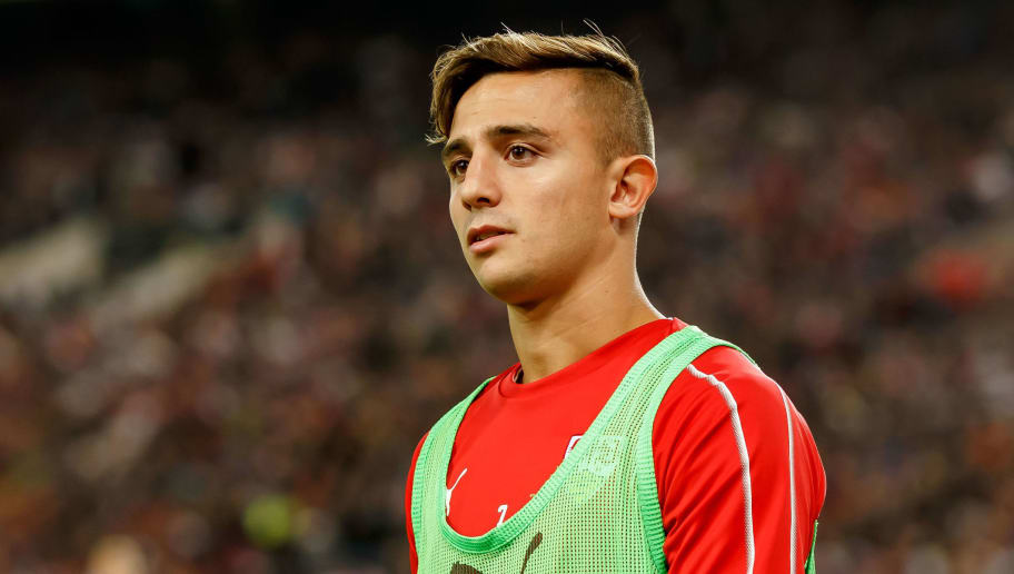 STUTTGART, GERMANY - SEPTEMBER 21: Pablo Maffeo of VfB Stuttgart looks on during the Bundesliga match between VfB Stuttgart and Fortuna Duesseldorf at Mercedes-Benz Arena on September 21, 2018 in Stuttgart, Germany. (Photo by TF-Images/Getty Images)