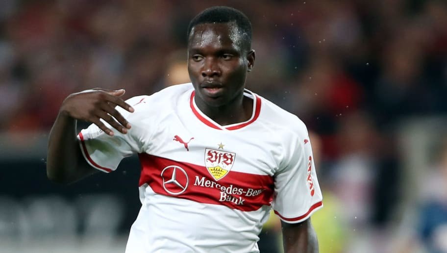 STUTTGART, GERMANY - SEPTEMBER 21: Chadrac Akolo of Stuttgart controls the ball during the Bundesliga match between VfB Stuttgart and Fortuna Duesseldorf at Mercedes-Benz Arena on September 21, 2018 in Stuttgart, Germany. (Photo by Alex Grimm/Bongarts/Getty Images)
