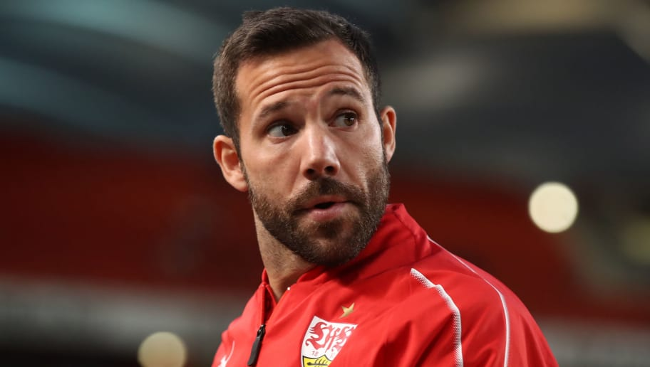 STUTTGART, GERMANY - SEPTEMBER 21: Gonzalo Castro of Stuttgart looks on prior to the Bundesliga match between VfB Stuttgart and Fortuna Duesseldorf at Mercedes-Benz Arena on September 21, 2018 in Stuttgart, Germany. (Photo by Alex Grimm/Bongarts/Getty Images)
