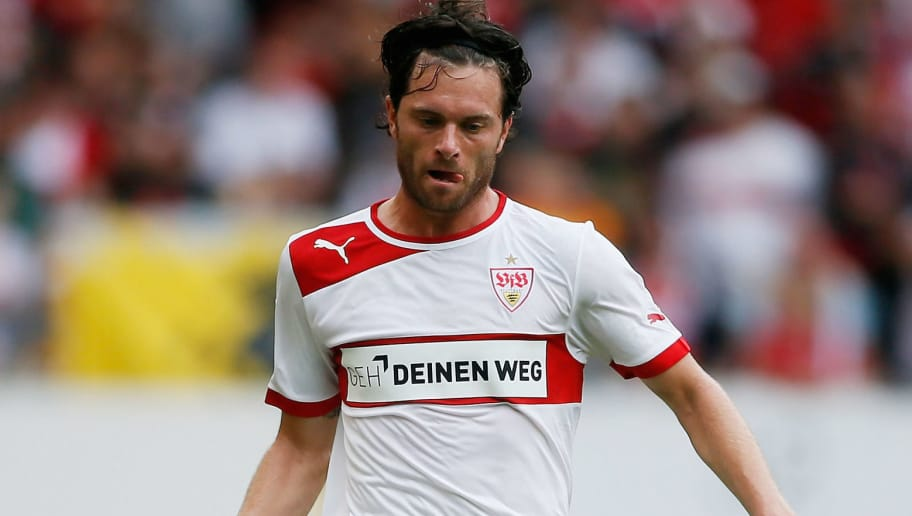 STUTTGART, GERMANY - SEPTEMBER 15:  Tim Hoogland of Stuttgart in action during the Bundesliga match between VfB Stuttgart and Fortuna Duesseldorf at Mercedes-Benz Arena on September 15, 2012 in Stuttgart, Germany.  (Photo by Johannes Simon/Bongarts/Getty Images)