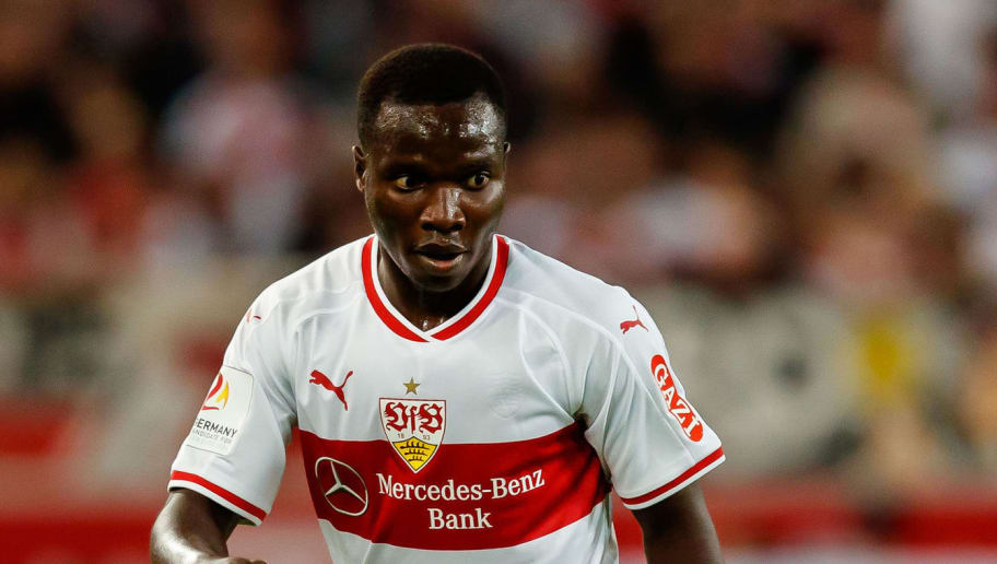 STUTTGART, GERMANY - SEPTEMBER 21: Chadrac Akolo Ababa of VfB Stuttgart controls the ball during the Bundesliga match between VfB Stuttgart and Fortuna Duesseldorf at Mercedes-Benz Arena on September 21, 2018 in Stuttgart, Germany. (Photo by TF-Images/Getty Images)