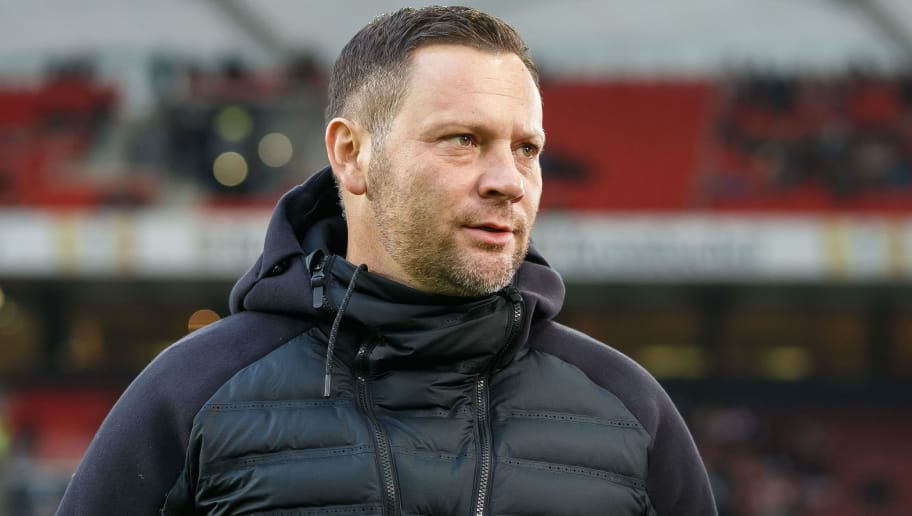 STUTTGART, GERMANY - DECEMBER 15: Head coach Pal Dardai of Hertha BSC looks on during the Bundesliga match between VfB Stuttgart and Hertha BSC at Mercedes-Benz Arena on December 15, 2018 in Stuttgart, Germany. (Photo by TF-Images/TF-Images via Getty Images)