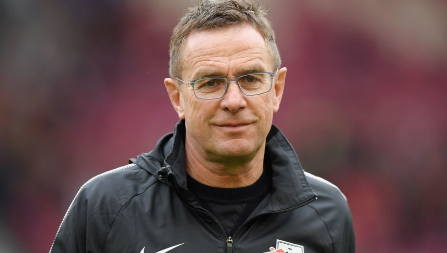 STUTTGART, GERMANY - MARCH 11:  Sporting director Ralf Rangnick of Leipzig looks on prior to the Bundesliga match between VfB Stuttgart and RB Leipzig at Mercedes-Benz Arena on March 11, 2018 in Stuttgart, Germany.  (Photo by Matthias Hangst/Bongarts/Getty Images)
