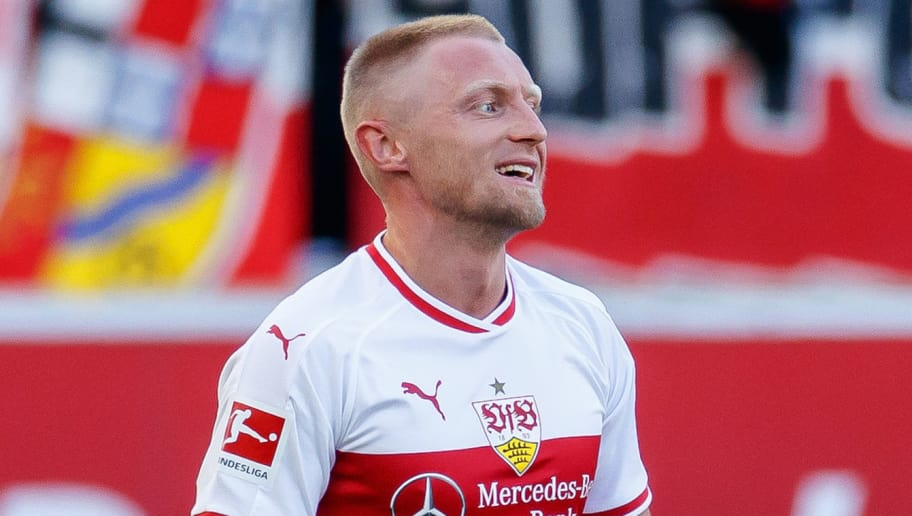STUTTGART, GERMANY - SEPTEMBER 29: Andreas Beck of Stuttgart looks on during the Bundesliga match between VfB Stuttgart and SV Werder Bremen at Mercedes-Benz Arena on September 29, 2018 in Stuttgart, Germany. (Photo by TF-Images/Getty Images)