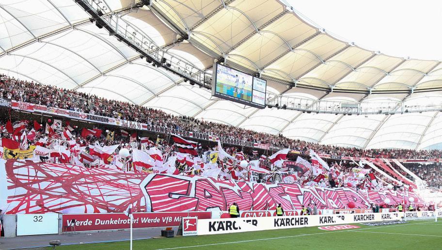 STUTTGART, GERMANY - SEPTEMBER 29: Fans of Stuttgart shows a choreography prior to the Bundesliga match between VfB Stuttgart and SV Werder Bremen at Mercedes-Benz Arena on September 29, 2018 in Stuttgart, Germany. (Photo by Christian Kaspar-Bartke/Bongarts/Getty Images)