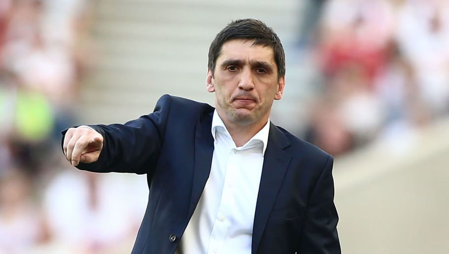 STUTTGART, GERMANY - MAY 05:  Tayfun Korkut, head coach of Stuttgart gestures during the Bundesliga match between VfB Stuttgart and TSG 1899 Hoffenheim at Mercedes-Benz Arena on May 5, 2018 in Stuttgart, Germany.  (Photo by Thomas Niedermueller/Getty Images)